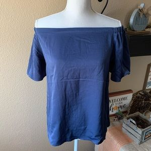 Monteau Woman's Blue Blouse Off Shoulder Sexy XL
